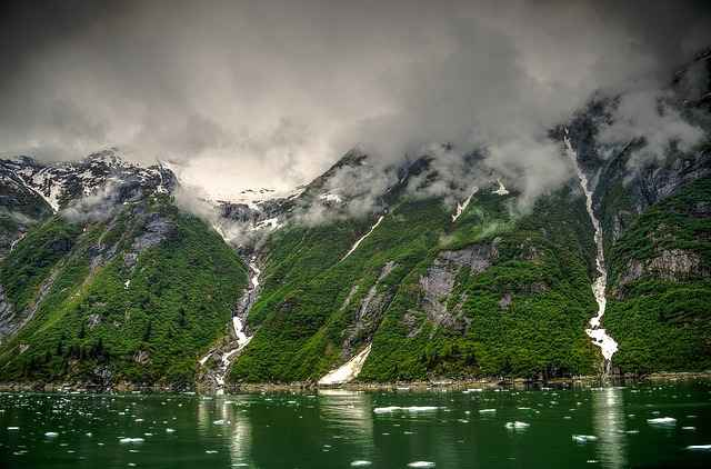 Tracy-Arm Glacier in Alaska