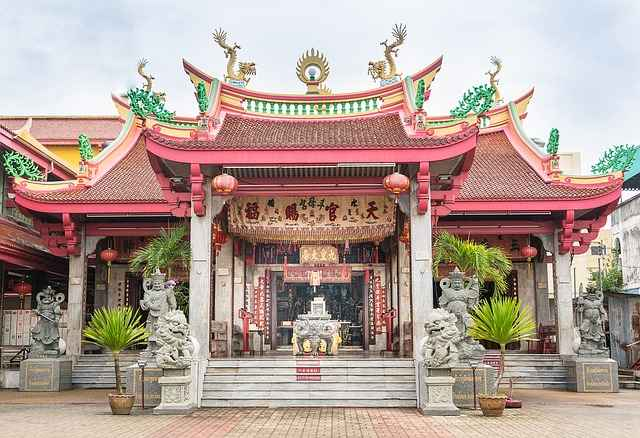 A temple in Phuket Thailand