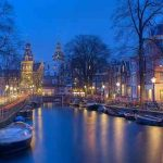 amsterdam night view