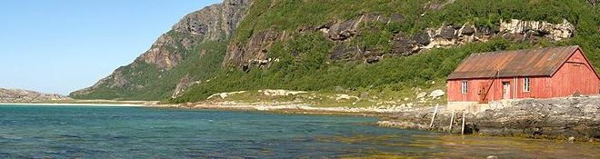 Mjeldevika beach area in Norway