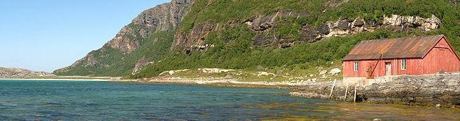 Mjeldevika beach area in Norway