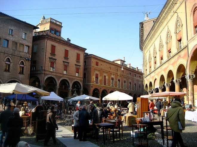 Flea market in Bologna Italy