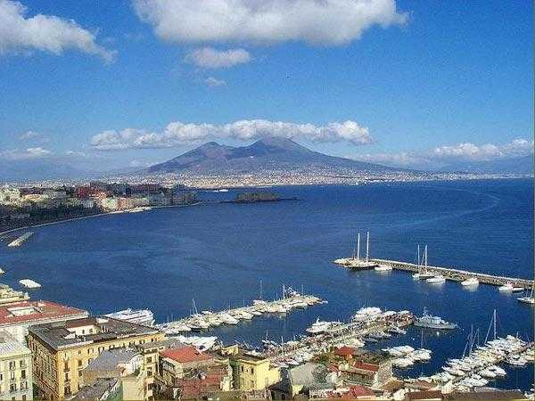 Naples Bay in Italy