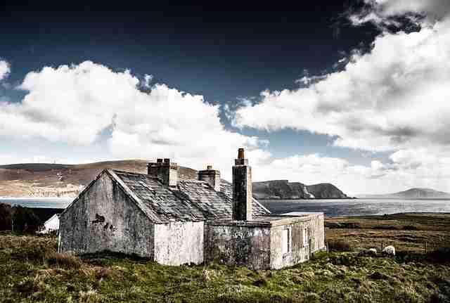 Hut Ruins in Ireland